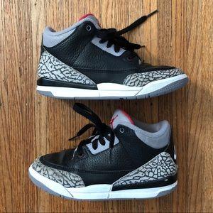 Air Jordan Retro 3 OG PS Black Cement Youth Kids 1